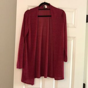 Divided by H&M red open front cardigan